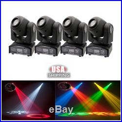 4pcs 30W RGBW Spot LED Moving Head Stage Light DMX Disco DJ Party Lighting