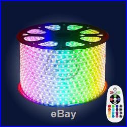 5050 RGB IP67 LED strip + remote control + power 200-230V AC 1m- 50m UK