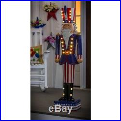 50 Patriotic Nutcracker Statue LED Light Uncle Sam
