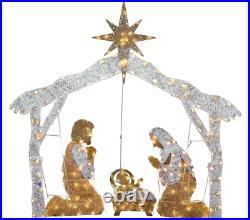 55 Lighted Gold Nativity Scene Display Sculpture Outdoor Christmas Yard Decor
