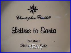 58 PC. CHRISTOPHER RADKO LETTERS TO SANTA CHRISTMAS DISH COLLECTION