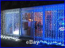 5M/10M Drop BLACK Connectable Curtain Light Xmas Festive Event Party Window