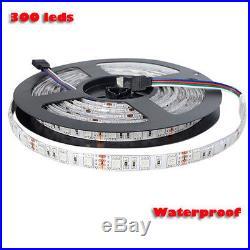 5M 10M RGB 5050 SMD 300 Leds Strip LED Flexible Light 12V Remote Power Supply HS
