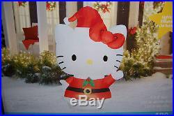5.5′ Gemmy Airblown Inflatable Hello Kitty Santa Christmas Yard Decoration NEW