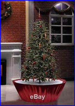 5.5′ Pre-Lit Musical Snowing Artificial Christmas Tree Red LED Lights