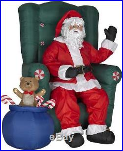 5.5′ Santa Sitting in a Chair with Sack of Toys Christmas Inflatable