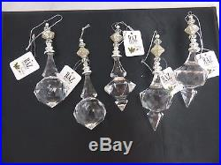 5 Acrylic crystal drop dangle ornaments Raz Imports Brand New