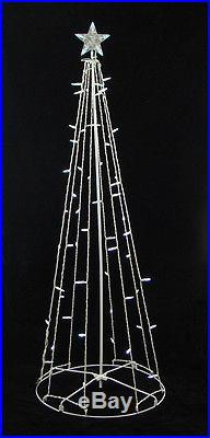 5' Cool White LED Lighted Outdoor Christmas Cone Tree Yard Art Decoration