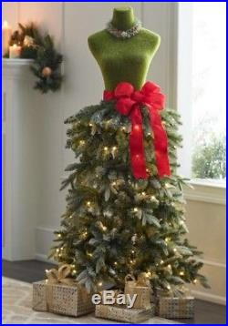 5 DRESS FORM MANNEQUIN PRE-LIT ARTIFICIAL CHRISTMAS TREE With FLOCKED BRANCHES