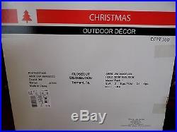 5 FOOT 3 PC LIGHTED SANTA & REINDEER SET CHRISTMAS YARD DISPLAY NIB