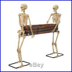 5 Foot Skeleton Duo Carrying Coffin Indoor/Outdoor Scary Halloween Decorations