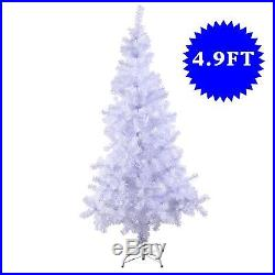5 Ft Artificial PVC Christmas Tree withStand Holiday Season Indoor Outdoor White