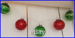 5 Pc Hanging Lighted Christmas Ornaments 6 Light Up Balls Holiday Decoration