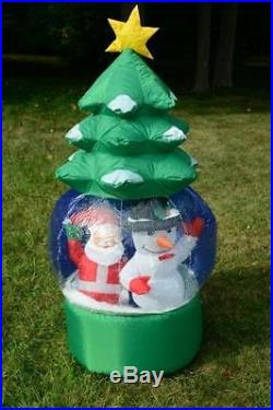 5′ Snowflake/ Rotating Christmas Tree Outdoor Lighted Airblown Inflatable Santa