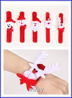 5 Style Santa Claus Circle Bracelet Christmas Jewelry Xmas Gift Party Decoration