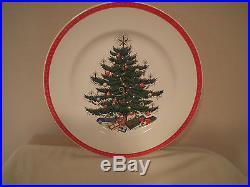 5 Vintage PLUMMER LTD NEW YORK Christmas Tree 10 Dinner Plates Homer Laughlin
