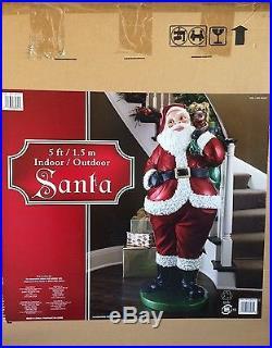 5-ft Santa Freestanding Sculpture Christmas Indoor/Outdoor Decor