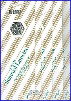 5 x 25 gramm Echtes Staniol 55cm Pack Blei-Lametta Silber Stanniol Lametta