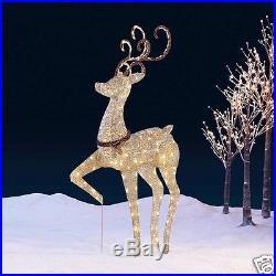 5ft 1.5M Christmas Reindeer Garden Decoration Deer Indoor/Outdoor 210 LED Light