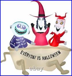 5ft Halloween Gemmy Lock Shock Barrel Airblown Inflatable Led Lighted Yard Decor