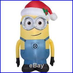 5ft Outdoor Inflatable Minion Santa Despicable Me Holiday Yard Christmas Decor