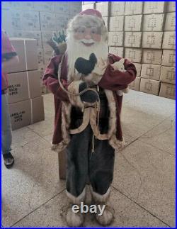 5ft Vintage Style Santa Life Size Doll Festive Ornament Christmas Decoration
