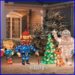 5pc Set Rudolph Reindeer & Friends Display Lighted Outdoor Christmas Decoration