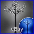 600 Blue/White Pre Lit LED Xmas Cherry Blossom Tree Fairy Light Decoration 2.5m