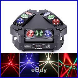 60W Moving Head Light Spider Beam Light DJ DMX512 Auto Rotating Sound Control