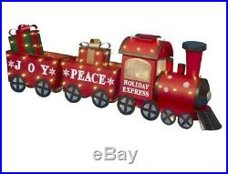 60 Lighted Red Metal Christmas Train Sculpture Display Outdoor Decoration Yard