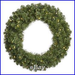 60 in. Pre-Lit LED Commercial Grade Grand Teton Wreath by Vickerman, Whites, 60