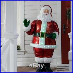 63 in Santa Claus Lighted Musical Christmas Decoration Xmas LED Light Plastic US