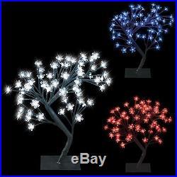 64 Led Bonsai Tree Snow Cherry Blossom Christmas Xmas Fairy Lights Table Lamp