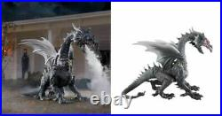 69Inch Tall Halloween Giant Black Silver Dragon, Home Accents Holiday, Brand New