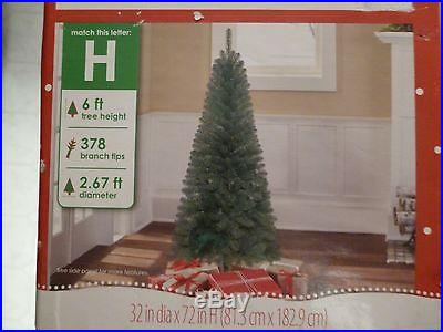 6ft Non Lit Artificial Christmas Tree Wesley Pine 378 Tips
