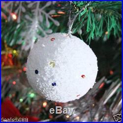 6PCS Christmas Snowball Balls Party Ornaments Xmas Tree Hanging Decoration Decor