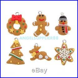 6Pcs Christmas Tree DIY Decor Clay Pendants Hanging Ornament Party Holiday Gift