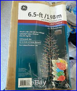 6 1/2 ft prelit branch christmas tree with200 LED lights