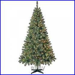 6.5 Ft Artificial Christmas Tree With Mini Clear Lights Home Decor Prelit Lights