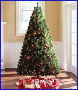 6.5 Ft Christmas Pine Tree Home Living Room Multi-Color Lights Holiday Decor New
