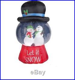 6.5′ Gemmy Snowman Snow Globe Christmas Airblown Inflatable Yard Decor Frosty
