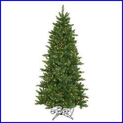 6.5′ x41 Camdon Slim Artificial Holiday Christmas Tree with Clear Lights