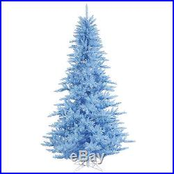 6.5′x52 Sky Blue Fir Artificial Holiday & Christmas Tree withColor Lights