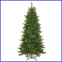 6.5′ x 41 Camdon Slim Holiday Artificial Christmas Tree with Multi-Color Lights