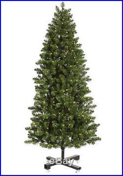 6.5′ x 41 Slim Grand Teton Artificial Christmas Tree with Warm White LED Lights