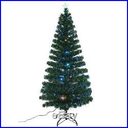 6′ Artificial Christmas Scattered Light Optical Fiber Tree Holiday Indoor