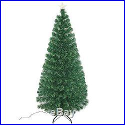 6' Artificial Christmas Scattered Light Optical Fiber Tree Holiday Indoor