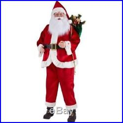 6 FT LIFE SIZE ANIMATED SINGING SANTA CLAUS FIGURE CHRISTMAS HOLIDAY DECOR GIFT
