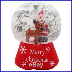 6 FT SANTA & REINDEER OUTDOOR SNOW INFLATABLE AIRBLOWN CHRISTMAS YARD DECOR NEW