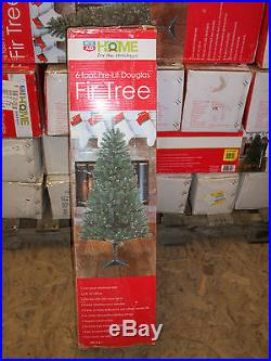 6′ Foot Douglas Fir Prelit Clear White Lights Artificial Christmas Tree with Stand